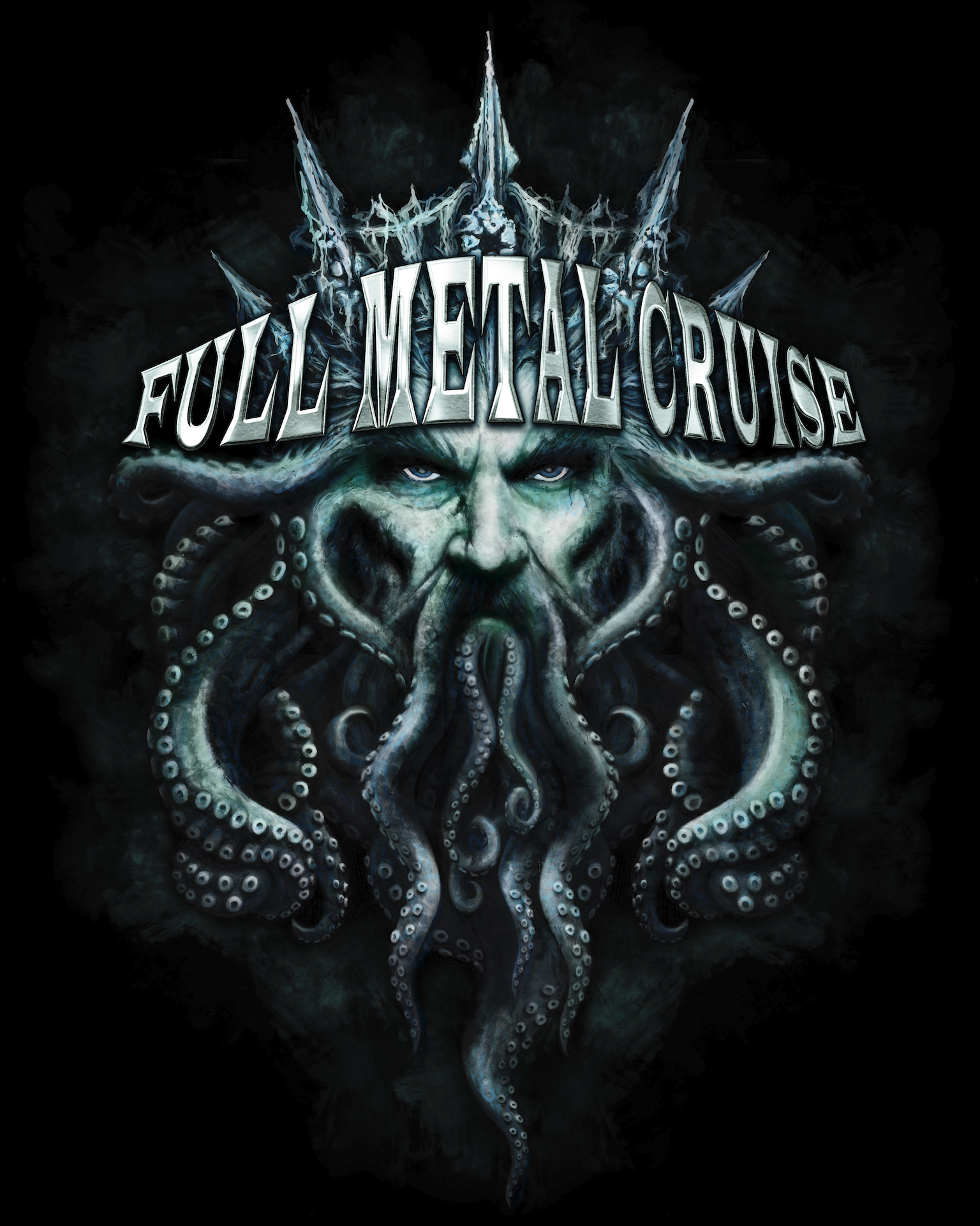 Full Metal Cruise V - T-Shirt Design Poseidon
